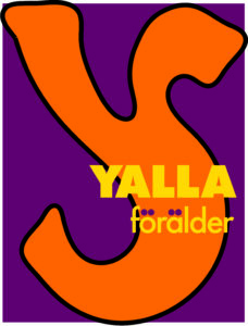 Yalla förälders logga. Nyblivna föräldrar som flyttat till sydöstra Skåne från länder utanför EU och nyblivna föräldrar som är födda och uppvuxna i Sverige är välkomna till Yalla förälder!
